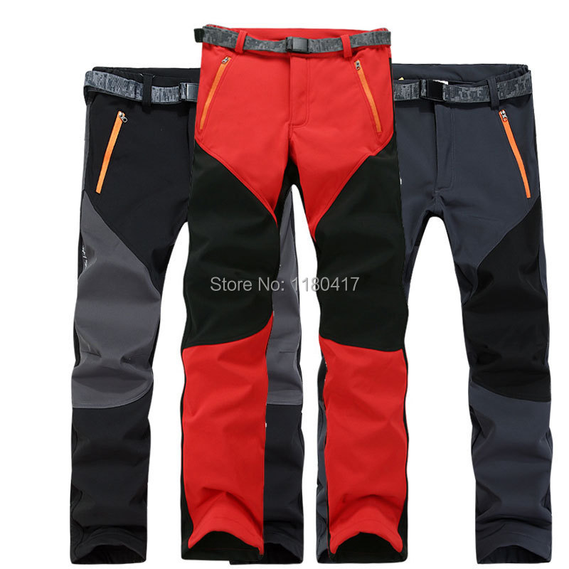 Top quality Women Winter fleece trousers pants for mountaineer snowboarding skiing hiking outdoor sports warmth windstopper<br>