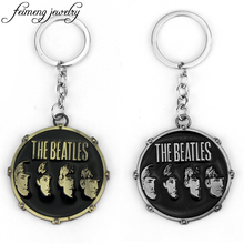The Beatles Keychain Famous Music Band Key Chain For Best Friends Key Holder Rock Key Ring Colar Masculino Llaveros