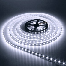 Non Waterproof 5M 3528 SMD Flexible 600 LED Strip Light 12V DC Tape Warm/Pure White Light Christmas Decoration