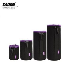 CADeN Black Purple Universal NeopreneWaterproof Soft Video Camera Lens Pouch Bag Case For Canon Nikon Sony DSLR Lens Case(China)