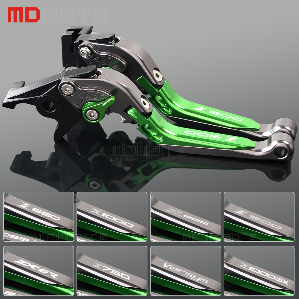 CNC brake clutch levers for motorcycles kawasaki ZX6R 636 Z1000SX NINJA 1000 Z900 Z1000 Z800 E VERSION Z750 VERSYS 1000 650<br>