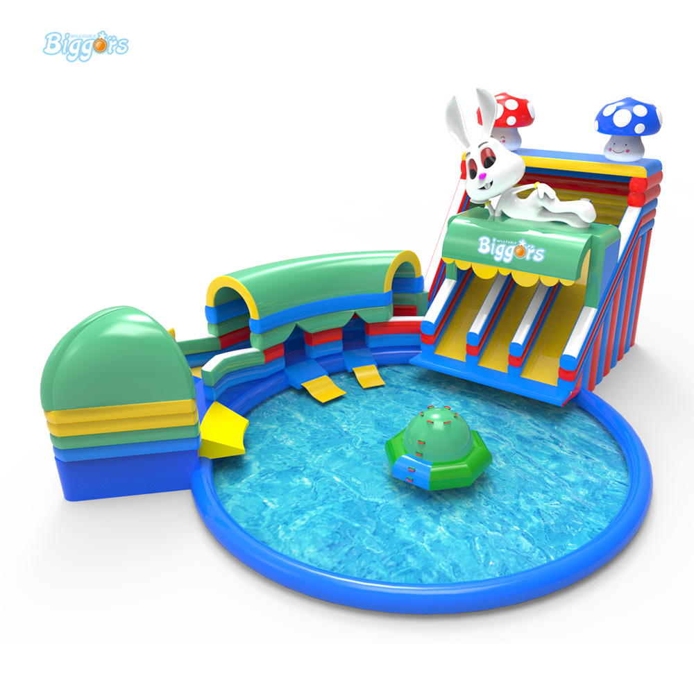 Large Hot Inflatable Water Toys Amusement Park Inflatable Water Slide With Pool For Sale(China (Mainland))