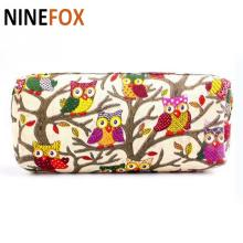 2017 Cute Fashion Owl Print Cosmetic Make Up Bag Storage Pouch Cute Cartoon Bag Stationary Bag Student Gift Bag(China)
