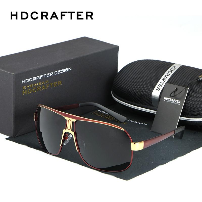 Box Free Large Mens Sunglasses Polarized Male Brand Designer Driving Polarizing Sunglass Mens Sun Glasses Polar Gold Big Face<br><br>Aliexpress