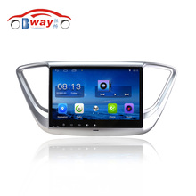 "Free Shipping 10.2"" Android 6.0.1 Car DVD video Player For Hyundai Verna 2016 car GPS Navigation bluetooth,Radio,wifi(China)"