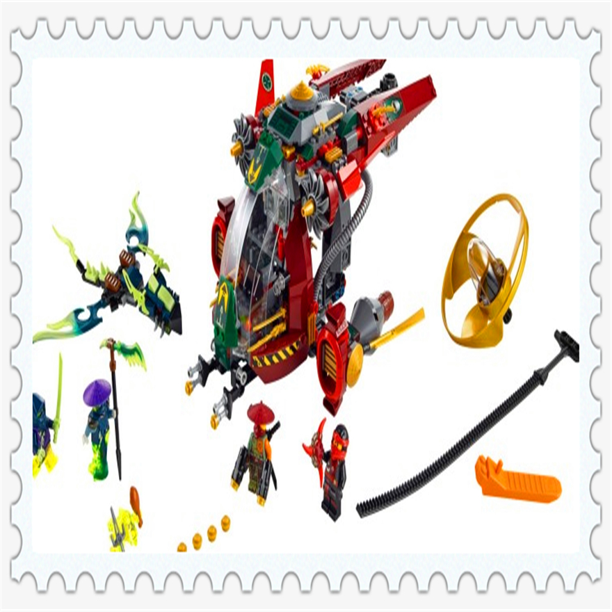 547Pcs Ninja Reedcall Ronin R.E.X Model Building Block Toys ENLIGHTEN 10398 Figure Gift For Children Compatible Legoe 70735<br>