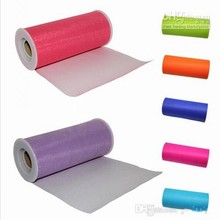 22m X 15cm Wedding Organza Table Runners Decoration Yarn Roll Tulle Sheer Gauze Element Banquet Bow Casamen to Favors