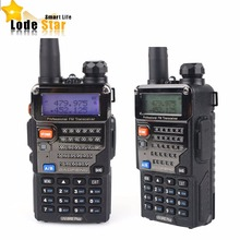 2pcs Dual band walkie talkie BAOFENG UV-5RE Plus two way radio 5W 128CH UHF VHF pofung UV 5RE Plus FM Radio Handheld Interphone