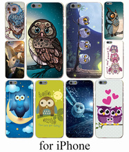 Cute Owls Cartoon Animal Hard Case Cover for iPhone 7 7 Plus 6 6S Plus 5 5S SE 5C 4S Case Cover