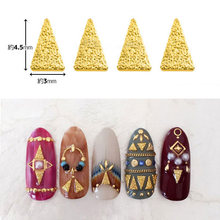 HOT Japanese nail art stud 100pcs Nail alloy long triangle shape rivet decoration nail art charm DIY nail metal glitter parts