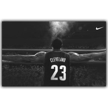 Lebron James Basketball Star Art Silk Fabric Poster Print Wall Home Decor Pictures 15x24 20x32 22x36 Inches YD697