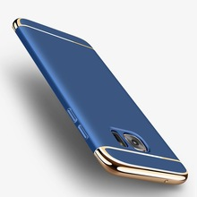 For Samsung Galaxy S7 Edge Case  Fashion 3 in1 Hard PC Ultra Slim Case For Samsung galaxy S6 S7 Edge S8 Plus J5 2016 Case Coque