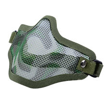 Tactical Hunting Metal Wire Half Face CS Mask Mesh Airsoft Mask Paintball Resistant