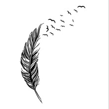 2017 New Arrival Wall Sticker Vinyl Birds Flying Feather Bedroom Home Decal Mural Art Decor Home Decoration Accessories