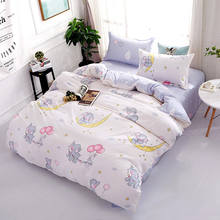 Elephant 4pcs Girl Boy Kid Bed Cover Set Duvet Cover Adult Child Bed Sheets And Pillowcases Comforter Bedding Set 2TJ-61015(China)
