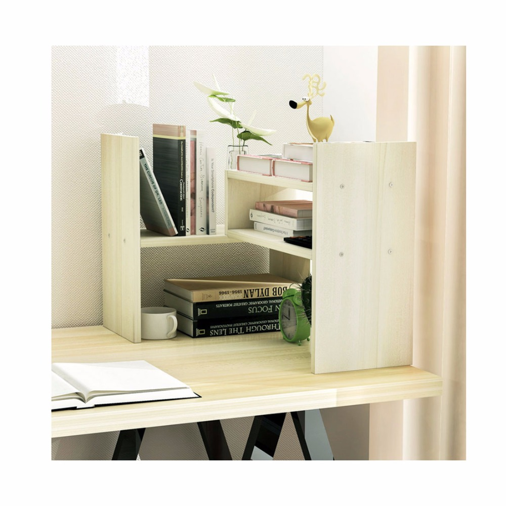 Home Office Small Bookshelves Mini Creative Desktop Bookshelf Shelving retractable tabletop Best for Home Office Use<br>