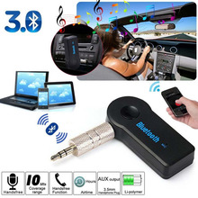 Wireless Bluetooth 3.5mm Audio Stereo Music Home Car Receiver Adapter W/ Mic