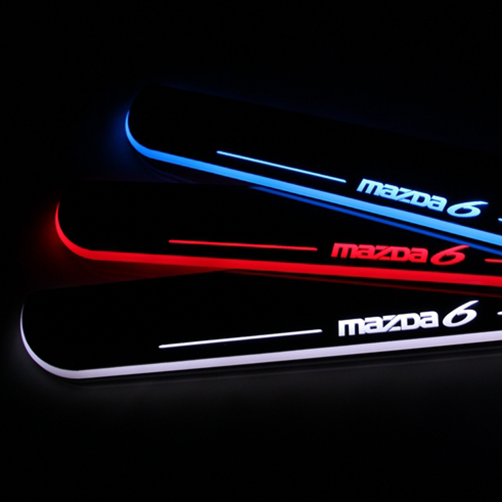 2PCS For Mazda 6 Atenza Car LED Flash Moving Light Front Door Sill Guards Scuff Plate Welcome Pedal 2013 2014 2015<br><br>Aliexpress