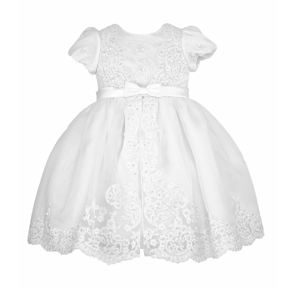 Baby Christening Dress Puff Short Sleeves A-Line Ankle Length High Quality Vestidos Infantil Baby Girl Clothes Baptism Dresses <br><br>Aliexpress