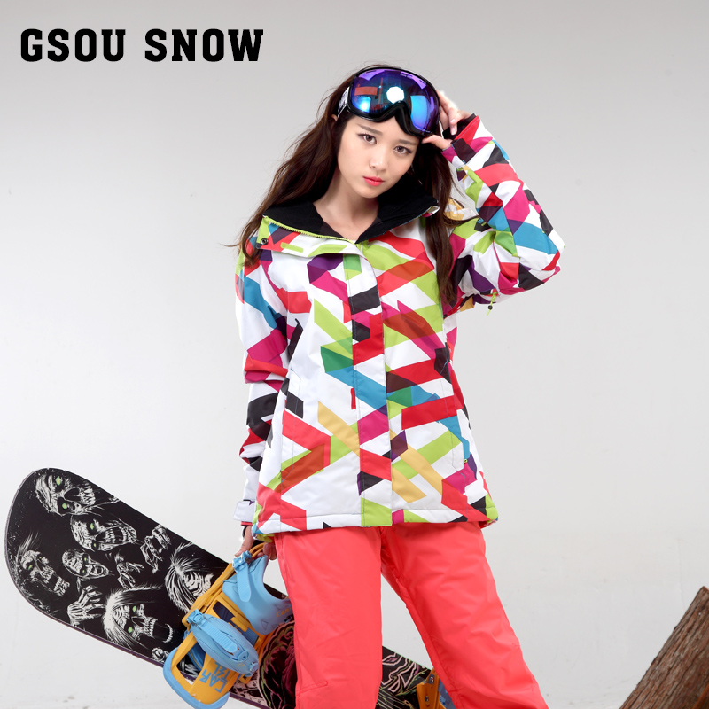 Gsou Snow Snowboard clothing women windproof waterproof breathable striped ski suit<br><br>Aliexpress