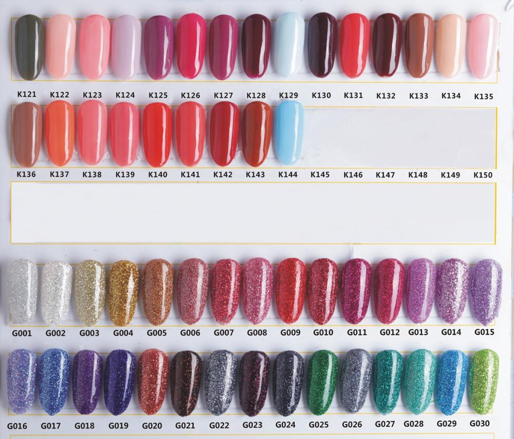G001-G030 color chart