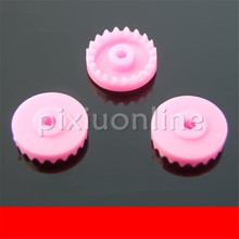 3pcs K943b Pink Color Single-deck Crown Gear DIY Model Making Gears Toy Car Free Shipping Russia