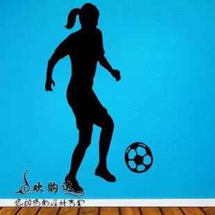 Women Football Sticker Soccer Decal Kids Room Posters Vinyl Wall Decals Car Parede Decor Mural Football Sticker