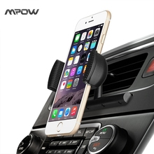 Original Mpow Car Phone Holder 360 Rotation CD Slot holder With Spring Holder for iPhone Xiaomi iPod Touch Samsung GPS Device(China)