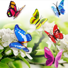 Hot Sale 12 pieces/lot 3D PVC Double Butterfly Wall Sticker Wrist Strap With Rattle Foot Socks Bug Wrist Strap plush socks baby