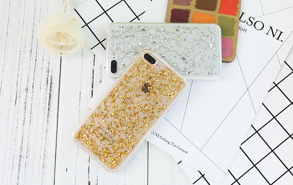 DOEES For iPhone 7 6 6S Plus 5 5S SE Case Luxury Cute Glitter Clear Case For Samsung Galaxy S8 Plus S7 S6 Edge S5 Note 7 5 Back Cover (8)
