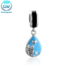 Fashion Silver 925 Jewelry Blue Crosses Charm Can Be Opened For Women;s DIY Jewelery Making Brand Aimili Jewellery S487-30(China)
