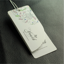 custom paper hang Tag for clothing hangtag with lamination non handwritten accept small order 500 pcs/ lot