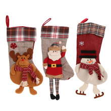 Christmas Stocking Xmas Decorations Children Gift Candy Bag Santa Claus Socks Christmas Tree Ornaments Santa Sacks(China)