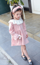 Girls' dress 2017 spring full of children's version of the design of the cactus doll collar sleeve dress tide
