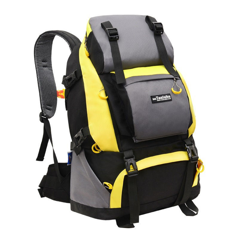 Travel Bag Shoulder Bag Leisure Outdoor Large Capacity Camping Backpack Women Double Shoulder Bag Men Mountaineering Bag<br>