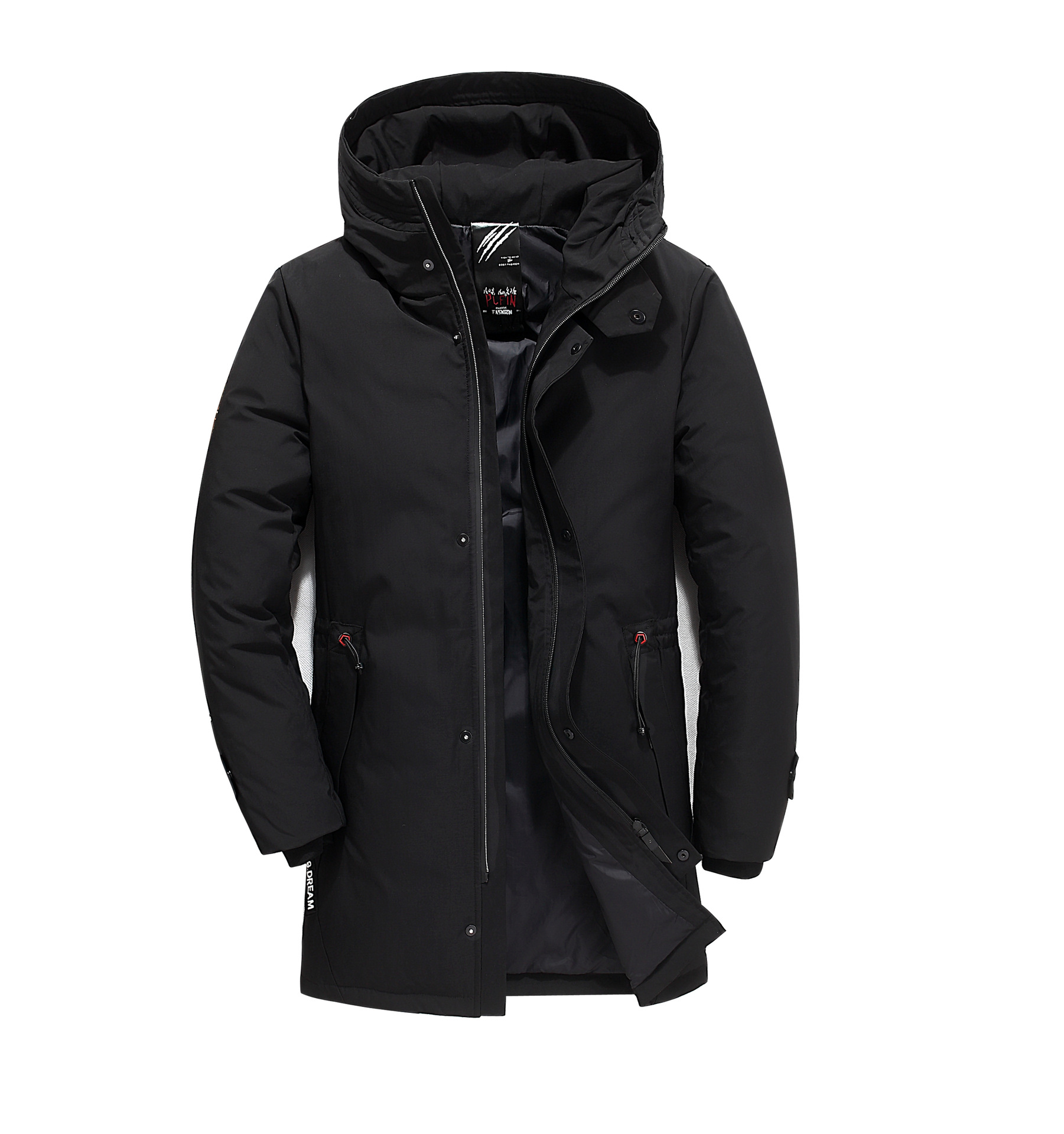 Men's Long Down Jacket 2018 New Casual Middle-aged Men's Down Jacket High-end Thickening Hooded Men's Coat Men Fashions