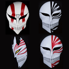 2017 Hot Bleach Mask Kurosaki Ichigo Movie Props Anime Cosplay Mask Japanese Collections New Ghost Horror Scary Masks Halloween(China)