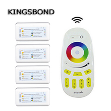 Wireless 2.4G 4-Zone RGB Touch tone remote control for led RF Wifi dimmable Controller rgb controller compatible with Milight(China)