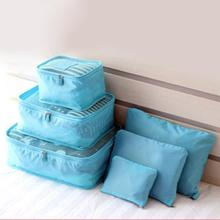 6pcs/Set Waterproof Travel Storage Bags Clothes Packing Luggage Organizer Portable Container Storage Case(China)