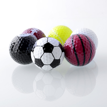 Set 6PCs Novelty Assorted Creative Champion Sports Golf Double Balls Joke Fathers Best Present Rubber Free Shipping