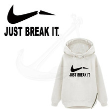 JUST BREAK IT 24*14cm T-shirt Dresses Sweater thermal transfer Printed A-level Washable Sticker iron on patch(China)