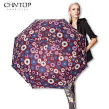 Creative Flower Automatic Umbrella Rain Women Men 3Fold Light and Durable Strong Colourful Umbrellas Kids Rainy Sunny Wholesale(China)