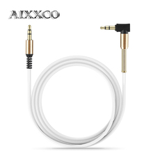 AIXXCO aux cable jack 3.5mm male to male audio cable 90 degree right angle flat aux cable for car / PM4 PM3 / headphone aux cord(China)