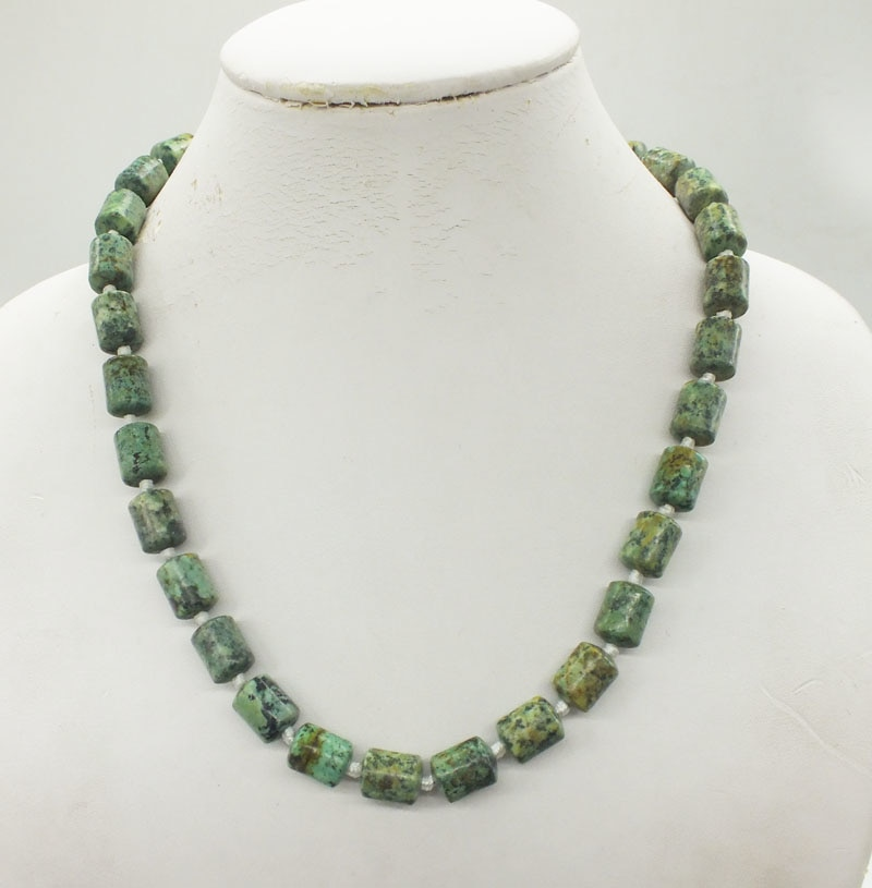 3-layer 10MM natural Brazilian semi-precious stone necklace. Classic bridal wedding necklace, jewelry 19""