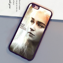Daenerys Targaryen Games of Throne Mobile Phone Cases For iPhone 6 6S Plus 7 7 Plus 5 5S 5C SE 4S Soft Rubber Back Cover Shell