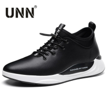 UNN Autumn Winter Moccasins Casual Shoes Slip-on Shalllow Mouth Flat Moccasins Black Adult Male Shoe Sneakers Mans Footwear(China)
