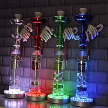 100Pieces/lot Kitosun Patent Design 6 inch Mirror Center Recharge Battery Under Vase Light Base Shisha Hookah Lighting