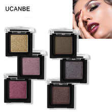 UCANBE Professional Eye Shadow Shimmer Glitter 8 Colors Diamond Single Eyeshadow Palette Metal Powder Nude Matte Pigment Makeup(China)