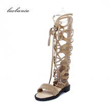 35-43 Plus Size Summer Boots Women Natural Suede Women Boots High Quality