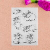 Мультфильм свинья прозрачный Штамп для DIY Скрапбукинг Фотоальбом поделок из бумаги